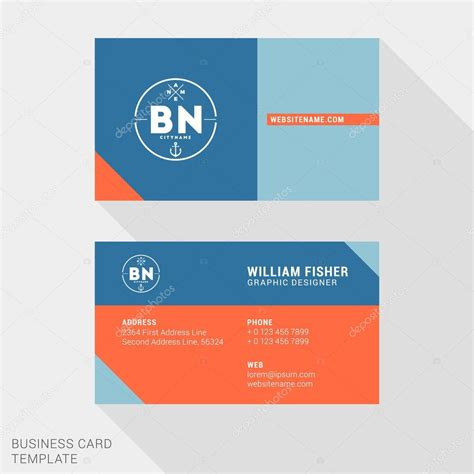 Business Card Clean Template Design Illustrator by Vector Design Modern Creative And Clean Business Card