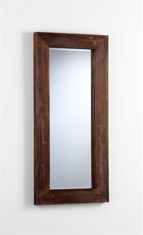 wood wall mirrors decorative ralston rectangular wood wall mirror by cyan design