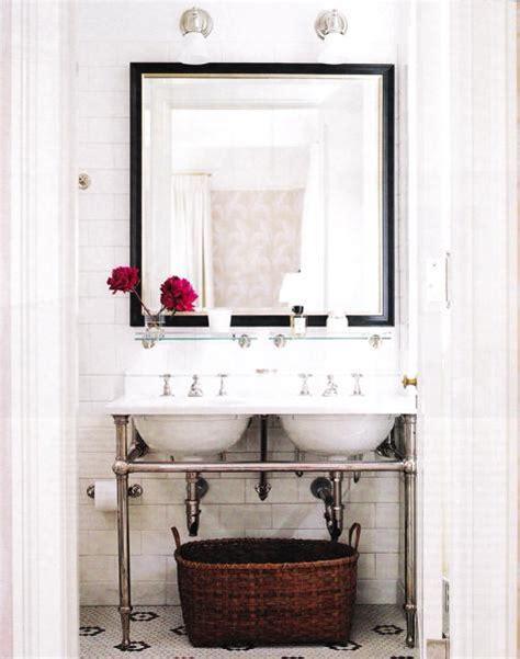 washstand transitional bathroom