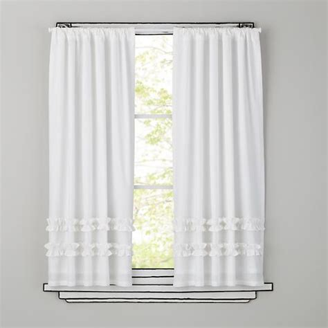 kids white curtains kids curtains kids white ruffle curtain panels the