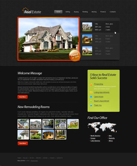 Free Html5 Template Real Estate Website Free Department Website Templates
