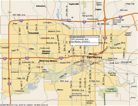 Street Map of Des Moines, Iowa