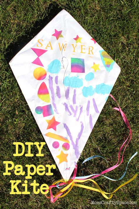 How To Make Paper Kites For Preschoolers - diy paper kite tutorial so and for windy
