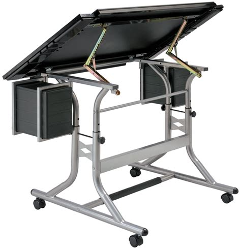 Artists Drafting Table Alvin Craftmaster Ii Black Glasstop Craft Table Artists Drawing Table