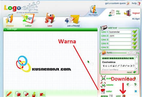 Membuat Logo Usaha Online | cara membuat logo via online di logoease com kusnendar