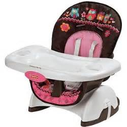 fisher price deluxe pink owl infant toddler booster seat