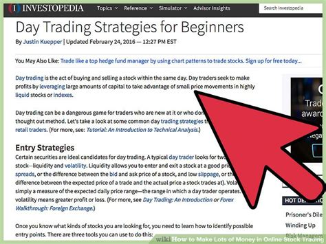 Make Money Trading Stocks Online - 3 easy ways to make lots of money in online stock trading