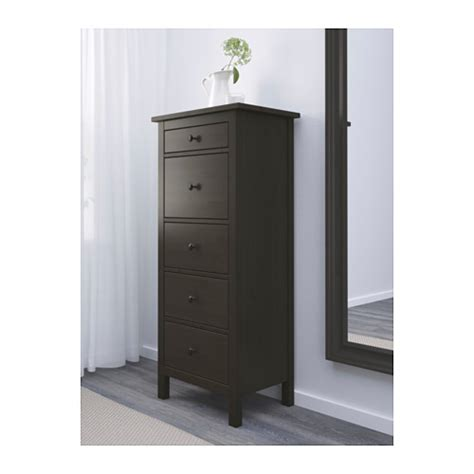Black Brown Chest Of Drawers Hemnes Chest Of 5 Drawers Black Brown 58x131 Cm Ikea