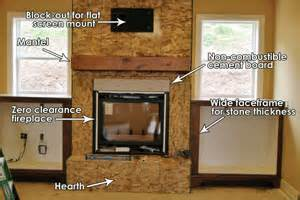 Interior Window Trim Using Stone Veneer To Build A Drystack Fireplace Face