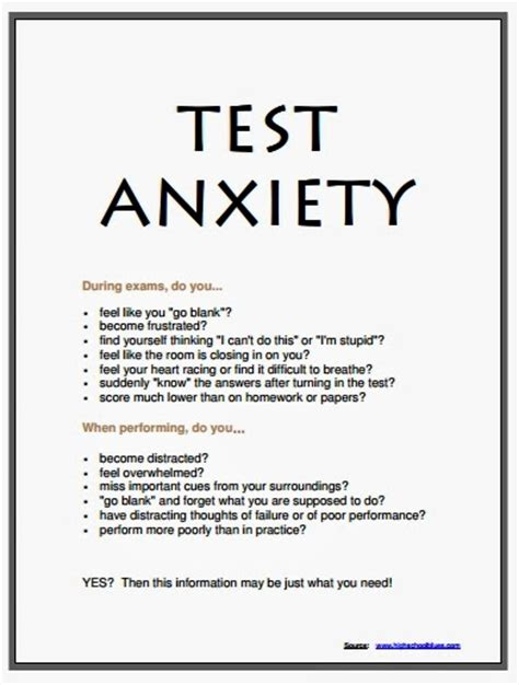 printable stress quiz for college students worksheet test anxiety worksheets hunterhq free