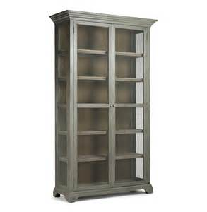 Cabinet Bookcases Lucille Country Grey Wash Chicken Wire Bookcase