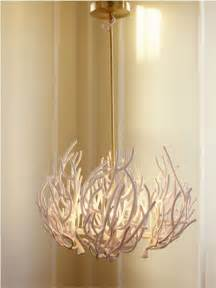 Coral inspired light fixture