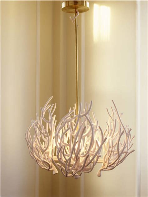 Eclectic Chandelier Lighting Coral Inspired Light Fixture