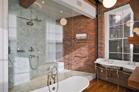 brick bathroom wall a brick wall always a charming d 233 cor feature in any room
