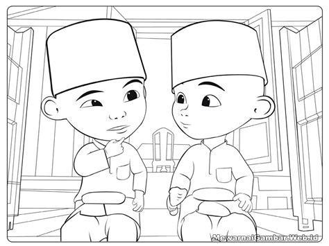 Mewarnai Gambar Upin Dan Ipin How To Draw Coloring Book For Kids Learning