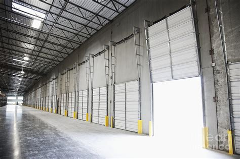 open warehouse bay door photograph by jetta productions inc