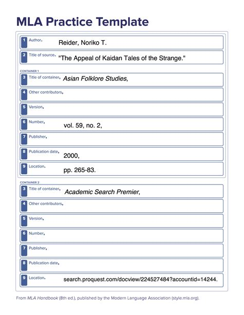 mla template mla template 28 images 38 free mla format templates