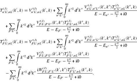 Galerry quantum mechanics equation