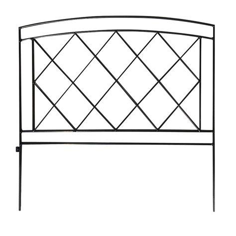 vigoro salerno   steel garden fence   home