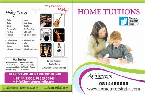 home tuition board design pin home tuition phlet on pinterest