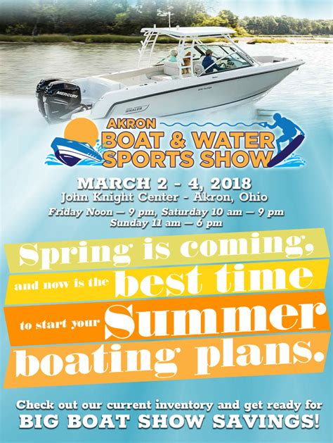 akron boat show akron boat and water sports show march 2 4 2018 clemons