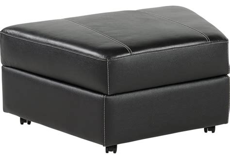 black ottoman storage fenway heights black leather storage ottoman leather