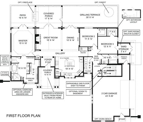 cottage house plans walkout basement cottage house plans