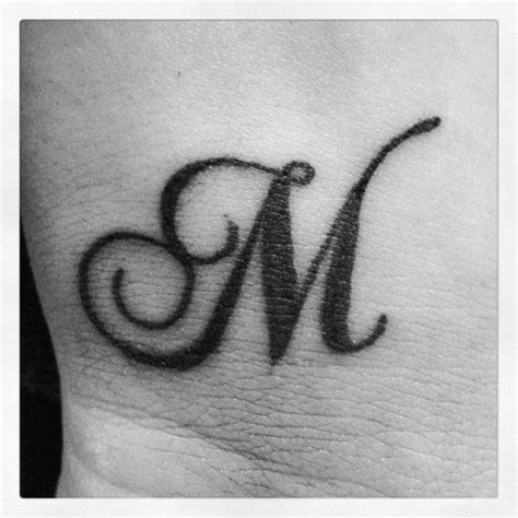 tattoo for alphabet m i would love this behind my ear but have the letter quot n