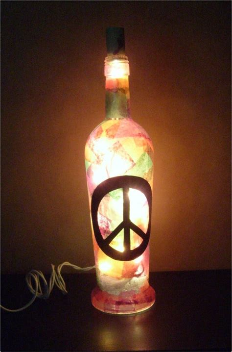 peace love and light wine bottle l peace love and light by amerayn on etsy