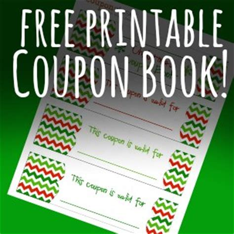 free christmas coupon book printable homemade gift idea