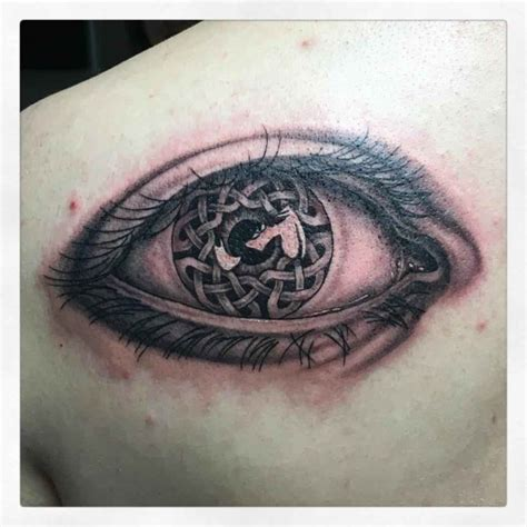 cross tattoo by eye celtic eye best ideas gallery