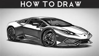 Drawing A Lamborghini Step By Step How To Draw A Lamborghini Huracan Step By Step