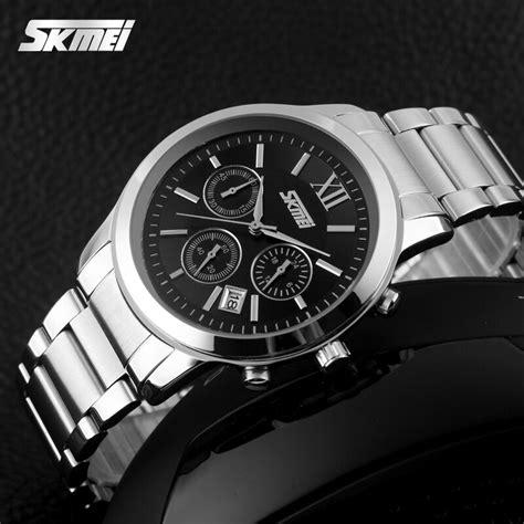 Jam Tangan Pria Skmei Stainless Water Resis Murah skmei jam tangan analog pria 9097cs black jakartanotebook