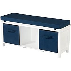 storage bench overstock storage bench with cushions and storage bins