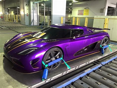 Purple Koenigsegg Agera R Zijin Arrives In Shanghai Gtspirit