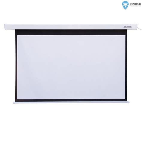 World Screen Projector Motorized 60x60 4world electric mount projection screen remote 144x81