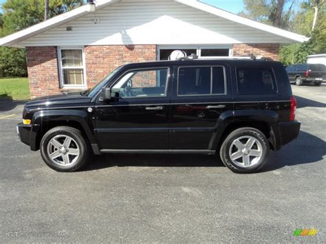 patriot jeep black 2007 black clearcoat jeep patriot limited 4x4 54815431