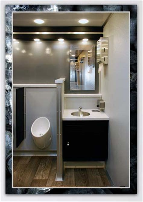 trailer bathroom bathroom trailer rental the industrial by callahead 1