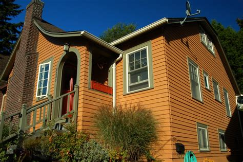 orange exterior house colors seattle ravenna autumn color craftsman exterior painting