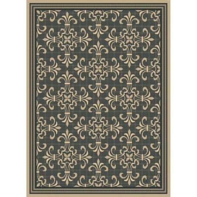 Hton Bay Williamson Black Java 7 Ft 7 In X 10 Ft 10 Hton Bay Indoor Outdoor Rugs