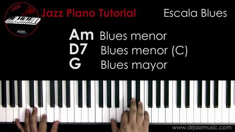 youtube tutorial blues piano drjassmusic jazz piano tutorial escala blues espa 241 ol