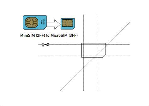 Cut Down Sim Card To Micro Sim Template