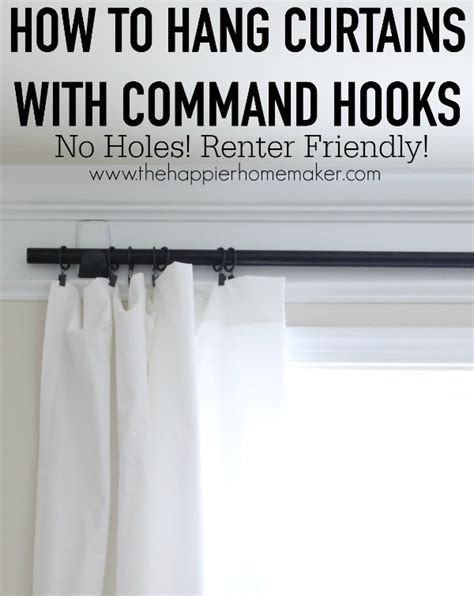 how to hang curtains with hooks how to hang curtains without holes renter friendly window