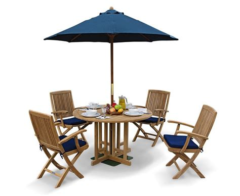 Berrington Round Garden Gateleg Table And Arm Chairs Set Gateleg Patio Table