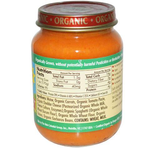 best organic food earth s best organic baby food spaghetti with cheese 6 oz 170 g iherb