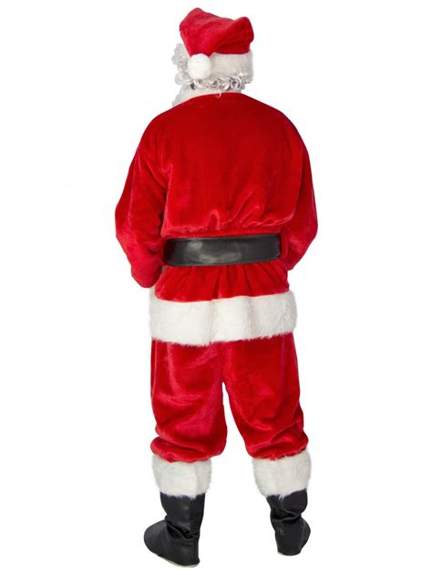 premium 7 piece full santa suit kit one size fits most