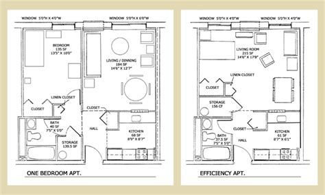 efficiency floor plans 1 bedroom efficiency apartment plans memes