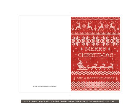 printable christmas cards printable christmas card mountainmodernlife com