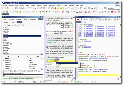 r statistical graphics software english