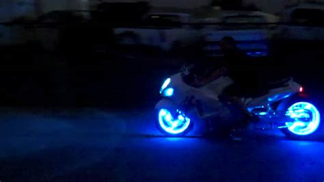 Motorcycle Wheel Lights by Custom Motorcycle Trick Led Wheel And Lights By All